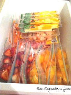 The Healthy Snack Drawer: Pre-portioned servings of fresh fruit, fresh veggies, string cheese, pudding, jello, or yogurt cups for the fridge.  Nuts, crackers, pretzels, dried fruit, and other snacks for the pantry.