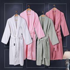 7dbeecf3ff XMS Brand New Lovers Bathrobes with Embroidery Warm Couple Sleepwear Robe  Men s 100% Cotton Nightwear