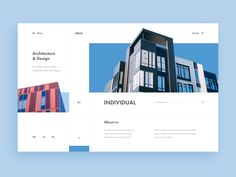 Architecture & Design Agency Web-site concept - Expolore the best and the special ideas about Interface design