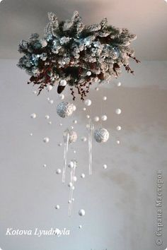 Love the woodsy and magical feel. Noel Christmas, Pink Christmas, All Things Christmas, Christmas Wreaths, Christmas Decorations, Christmas Ornaments, Christmas Chandelier, Creation Deco, Christmas Arrangements