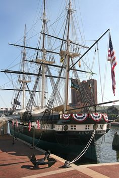 USS Constellation Baltimore Maryland by fstopsue, via Flickr. Live near Baltimore and have seen the USS Constellation several times