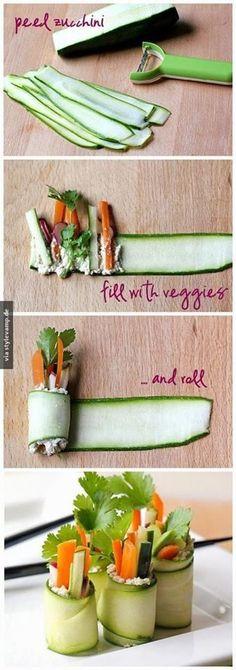 Gurken Röllchen/ Sushi