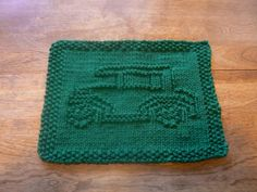 Great for Dad or Granddad! Hand Knit Antique Car Cloth | hollyknittercreations - Knitting on ArtFire