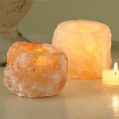 Crystal Salt Lamp Candle Holder
