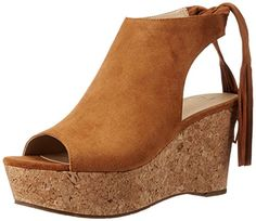 Marc Fisher LTD Womens Sueann Wedge Sandal Cognac Suede 75 M US -- This is an Amazon Affiliate link. Details can be found by clicking on the image.
