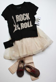 ha.. cute for a concert or night out with daddy! Rock romantique!