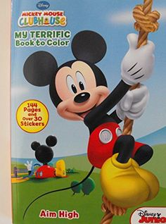 Mickey Mouse 144 Page Coloring And Activity Book With Stickers ** More info could be found at the image url.Note:It is affiliate link to Amazon.