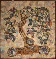 Art nouveau-inspired family tree quilt -- kinda cool :)