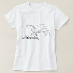 Alexander Hamilton, with his questionable artistic talent, etched a unicorn on his powder horn. This shirt commemorates his work. Size: Adult L. Alexander Hamilton, Unicorn Shirt, Front Design, Tshirts Online, Wardrobe Staples, Colorful Shirts, Fitness Models, T Shirts For Women, Casual