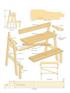 Plans for the Lookout Bench
