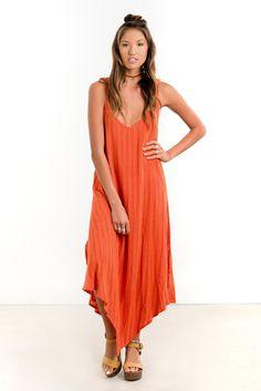 Saltwater Luxe Gold Coast Maxi | Hot Orange