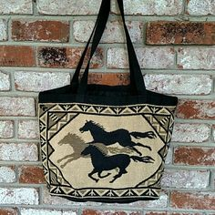 Horse Lovers Tote Horses on fabric Tote Bags Totes