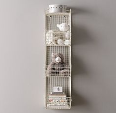 "96 10""W x 13½""D x 39½""H Industrial Wire 3 Cubby Storage"