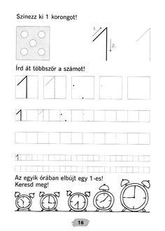 Archivo de álbumes Math Numbers, Pre Writing, Kids Education, Alphabet, Kindergarten, Homeschool, Album, Teaching, Images