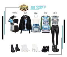 A fashion look from August 2017 featuring blue dress, loose tops and colorful shirts. Browse and shop related looks. Kpop Fashion Outfits, Stage Outfits, Korean Outfits, Korea Dress, Concert Looks, Korean Girl Fashion, Queen Outfit, Weekly Outfits, Fashion Design Sketches