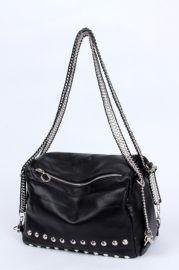 Fashion Rivets Embellished Shoulder Bag - Bags/Purses
