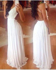 Long Chiffon Backless Strap Evening Floor Maxi Dress