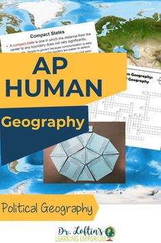 This bundle includes everything you need with a strong emphasis on vocabulary to teach about Political Geography in your AP Human Geography course. You'll get a PowerPoint, vocabulary squares for using in a notebook, and more. Check it out! #APHumanGeography