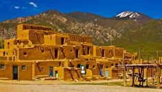 Ancient Mud house  of Taos Pueblo  #NewMexico
