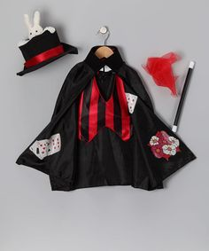 Take a look at this Black Magician Dress-Up Outfit - Toddler by Paper Magic on #zulily today!