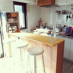 Kitchen/ナチュラル/IKEA/カラーボックス/DIY/キッチンカウンターのインテリア実例 - 2018-01-16 02:02:24