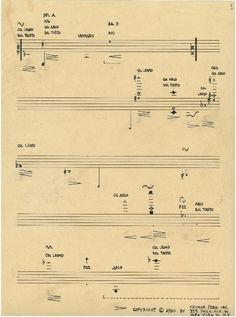 John Cage | scores. Pionero de la música aleatoria, de la música electrónica y del uso no estándar de instrumentos musicales fue una de las figuras principales del avant garde de posguerra.