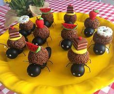 Ideia para festa com tema Picnic Bolo Picnic, Cute Food, Keto Dinner, Cakes And More, 4th Birthday, Cake Cookies, Flamingo, Fondant, Birthdays