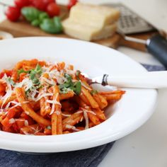 """Pasta all' arrabbiata - """"sinna pasta"""" New Menu, Food Pictures, Thai Red Curry, Great Recipes, Cravings, Chili, Carrots, Food And Drink, Lasagne"""