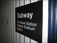 YANKEES ROOM - subway sign