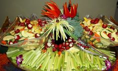 Vegetable Display Tray by AA Executive Catering