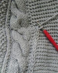 Pled, druty, szydełko Knitting Help, Knitting Needles, Crochet Flower Patterns, Knitting Patterns, Bordado Popular, Knitting Projects, Knit Crochet, Creations, Stitch