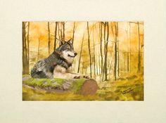 Wildlife art print, Wolf, wildlife print, wildlife photography, wildlife picture, animal print, animal art, wildlife painting, digital art