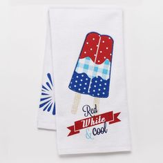 Americana Red, White & Cool Popsicle Kitchen Towel