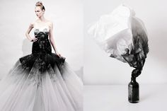 Match #95 Fantasy Wedding Dress by Marchesa Spring 2011 | Smoke by Andrew Kim More matches here