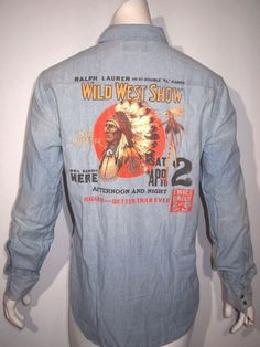 Polo Ralph Lauren wild west native american chambray shirt size large NWT  #poloralphlauren #ButtonFront