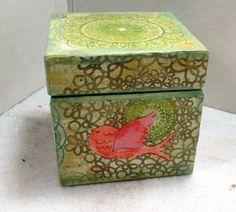 Decorative Wooden Trinket Box Home Decor by MixedMediaBySRC, $10.00