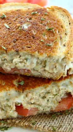 Parmesan Pesto Tuna Melts