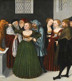 Lucas Cranach the Elder KRONACH 1472 - 1553 WEIMAR THE BOCCA DELLA VERITÀ (THE MOUTH OF TRUTH)