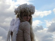 Cream flower crown par rougepony sur Etsy