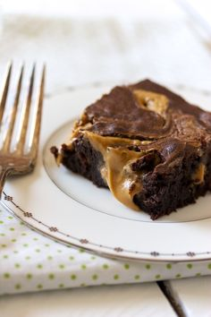 Peanut butter brownies....mmmm....  Samantha is already planning when to make these