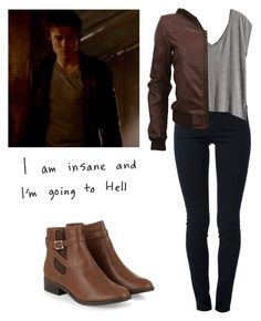 """""""Damon Salvatore - tvd / the vampire diaries"""" Tv Show Outfits, Lit Outfits, Casual School Outfits, Fandom Outfits, Edgy Outfits, Fashion Outfits, Female Outfits, Teen Winter Outfits, Simple Fall Outfits"""
