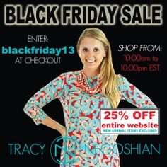 #BlackFriday shopping!  www.tracynegoshian.com