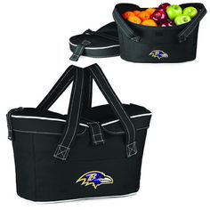 The Baltimore Ravens NFL Mercado Basket Cooler Tote by Picnic Time