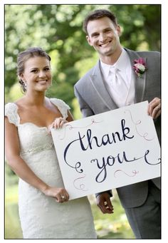 This can be done is so many different ways - I only wish I had thought of it for my own wedding thank you cards....