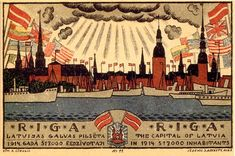 After long search I managed to find another postcard from Ansis Cirlulis . Riga 1919. Sorry for the low res - these things are old.