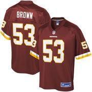#NFLShop.com - #NFLShop.com Men's Washington Redskins Zach Brown NFL Pro Line Burgundy Team Color Player Jersey - AdoreWe.com