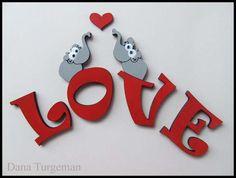 wooden letters  Elephants inlove...  by Dana Turgeman