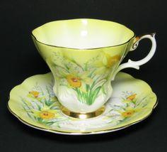 Royal Albert Yellow Daffodil Tea Cup and Saucer