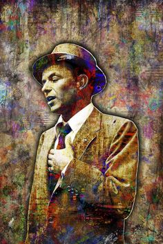 Music Artists Posters Awesome Ideas For 2019 Frank Sinatra Poster, Fan Poster, Colorful Artwork, Punk, Classic Hollywood, Music Artists, Fine Art, Man Caves, Jazz