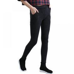 2015 Autumn New Women's Washed Ripped Jeans Leggings Pencil Pants Elastic Denim Leggings Skinny Jeans Jeggings Women Trousers Denim Leggings, Jeggings, Womens Ripped Jeans, Skinny Jeans, Ankle Length Pants, Trousers Women, Fashion Pants, Pilates, Crossfit